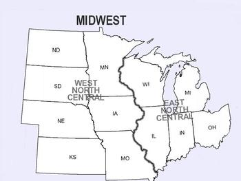 Midwest USA Map
